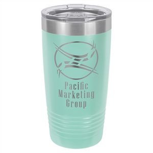 20 oz. Matte Teal Ringneck Vacuum Insulated Tumbler w/Clear Lid